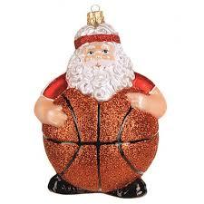 Christbaumschmuck Weihnachtsmann Mit Basketball