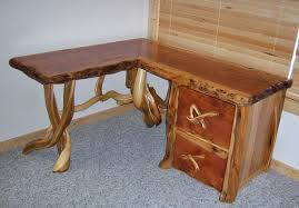 custom made rustic log office desk custommade custom office