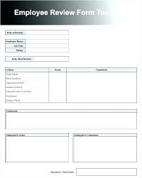 Performance Review Forms Employee Performance Appraisal Form Template Luxury Evaluation Word