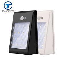 outdoor solar wall lights. Led Garden Solar Wall Light Motion Sensor Lamp Outdoor 16 LED PIR Battery Powered Waterproof Eave Lights