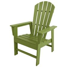 polywood south beach lime all weather plastic outdoor dining chair