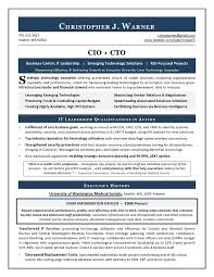 Cio Resume Templates - Kleo.beachfix.co