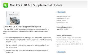 Apple Releases Os X 10 6 8 Supplemental Update For Snow