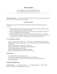 Security Resume Objective Examples Security Guard Resume Objective Examples Here Are Example Sample No