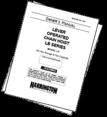 harrington hoists and cranes owner s manuals owner s manual cover