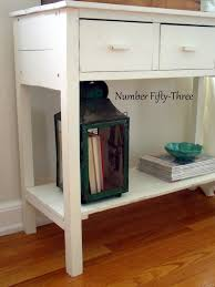 benjamin moore furniture paintNumber FiftyThree Updating Furniture w Pottery Barn White