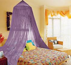 kathy ireland lavender twin full canopy bed netting