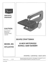 Universal Scroll Saw Blade Chart Sears Craftsman 16 Scroll Saw Parts 20 Review Manual Pdf For