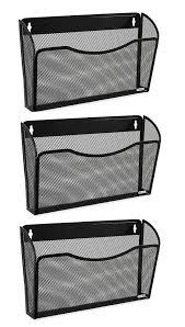 wall mounted folder holder wall mount office file hanging organizer folder holder rack storage 3 pack