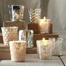 west elm silver mercury glass wedding votive candle holders outdoor
