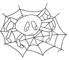 Small Picture Halloween Spider Web Coloring Pages Free Here