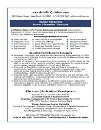 Resume Human Resources Resume Samples