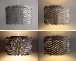 Extra Large Drum Shade Ceiling Light Soda Can Tab Drum Shade Large Eco Friendly Pendant Light