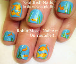 Nail Art For Short Nails! | DIY EASY Goldfish Design Tutorial ...