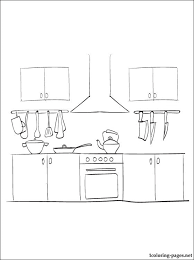 Small Picture Kitchen coloring page Coloring pages