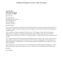 Cover Letter For Experienced Software Engineer Sample Cover Letter For Software Engineer Software Engineer Cover