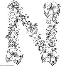This letter n coloring page features both capital n and lowercase n, plus a cute picture to color that starts with the letter n. Pin On Coloring Pages