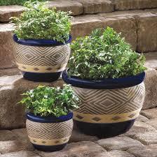 planter set ceramic small medium large