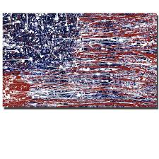 unframed print abstract line american flag painting on canvas art modern home decor picture for living