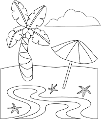 Various and well drawn, this coloring color this beautiful skyline with incredible sun in background. 25 Free Printable Beach Coloring Pages