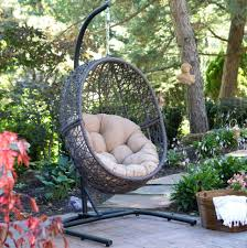 outdoor wicker swing chair hanging egg chair with stand wicker basket cushion indoor outdoor hammock swing outdoor wicker patio swing chair