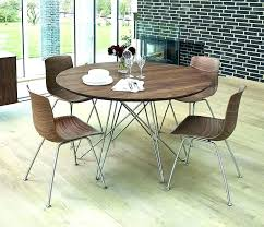 walnut dining table and 6 chairs modern round set for