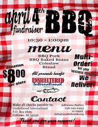 Bbq Fundraiser Flyer Bbq Flyer Copy