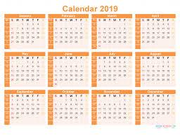 print a calendar 2019 printable 2019 12 month calendar template free landscape layout