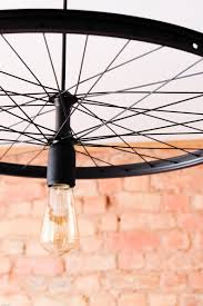 Bike Wheel Lamp Pendant Style Minimalist Simple And Unique Home Decor For Housewarming And Birthday As A Shadow Making Chandelier