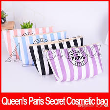 secret cosmetic bags women s cosmetic bags potable zipper queen s paris secret makeup bags 4 colors pink bag