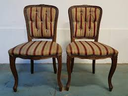 Mahogany Bedroom Furniture Pair Of Mahogany Bedroom Chairs With Padded Seats And Backs Two