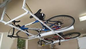 image of ceiling bike rack diy