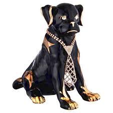 <b>статуэтка LEFARD Собака с</b> галстуком 25х15х24см черная ...