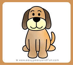 dog drawing easy. Wonderful Dog Color Your Dog Drawing With Easy Y