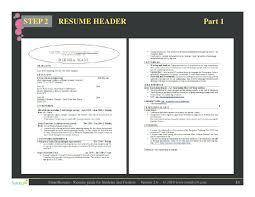 Sample Resume Headers Step 2 Resume Header Sample Resume Header