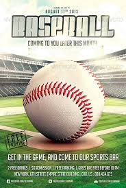 Free Baseball Flyer Template Best Baseball Sports Flyer Templates No 1
