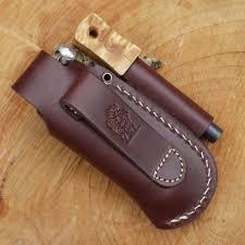 tbs leather small folding knife belt pouch with firesteel loop 2 1006 p jpg