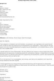 Sample Computer Programmer Resume Computer Programmer Cover Letter Sample Computer Cover