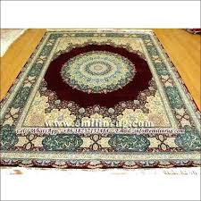 gold rug 8x10 handmade silk rug carpets for area rugs gold red double knotted oriental