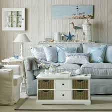 stylish coastal living rooms ideas e2. Coastal Beach Cottage Style With Nautical Decor And Ocean Hues To Inspire Your Own Creative House Design. Shabby Chic White Slipcover Stylish Living Rooms Ideas E2 1
