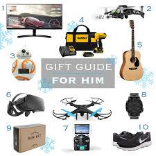 holiday gift guide for him 2016 list top 10