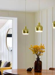 artek lighting. alvar aalto a330s golden bell pendant lamp by artek lighting