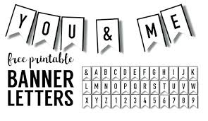 Printable Letter For Banners Free Printable Letters Banner Templates And Numbers Letter