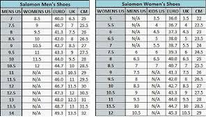 78 Rigorous Salomon Binding Size Chart