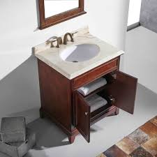 eviva elite stamford 30 brown solid wood bathroom vanity set with double og crema marfil marble top white undermount porcelain sink