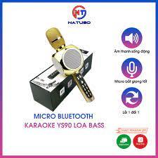 Micro karaoke bluetooth YS90 đa năng loa bass không dây, chỉnh được nhiều  tone giọng