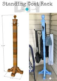 Diy Standing Coat Rack Standing Coat Rack My Love 100 Create 3