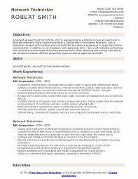 Network Technician Resume Samples Qwikresume