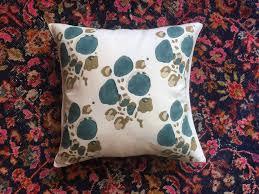 Tulu Textiles Alvin Teal decorative pillow from TAMAM   TAMAM
