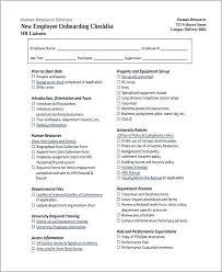 New Hire Orientation Template Employee Orientation Checklist